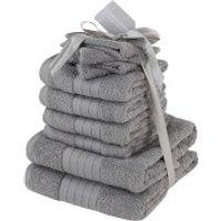 Highams 100% Cotton 10 Piece Towel Bale (500GSM) - Grey