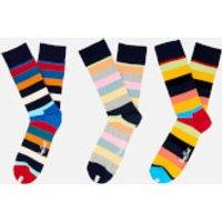 Happy Socks Mens Stripes 3 Pack Socks - Multi - EU 41-46