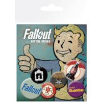 Fallout 4 Mix 2 Badge Pack - Computer Games Gifts