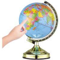 Global Gizmos Globe Touch Lamp 33cm - Brass Finish