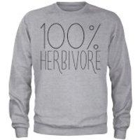 100% Herbivore Sweatshirt - Grey - L - Grey