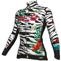 Ale Women's PRR 2.0 Flowers Winter Jersey - White/Black - XL - White/Black