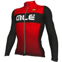 Alé R-EV1 Rumbles Winter Jersey - Black/Red - XS - Black/Red