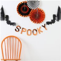 Ginger Ray Orange Foiled Spooky Bunting - Pumpkin Party - Pumpkin Gifts