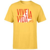 Vive La Vida Men's Yellow T-Shirt - L - Yellow