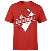Alto De L'Angliru Men's Red T-Shirt - XL - Red