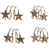 Nkuku Star Napkin Rings - Antique Brass (Set of 4)