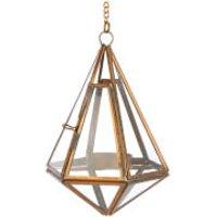 Nkuku Mokomo Hanging Lantern - Antique Brass