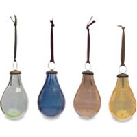Nkuku Alura Pear Bauble - Multi Colours (Set of 4) - Large