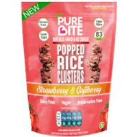PureBite Popped Rice Clusters - Strawberry & Gojiberry 20g