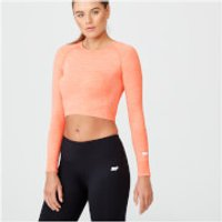 Shape Seamless Crop Top - M - Light Coral Marl