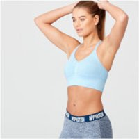 Shape Seamless Sports Bra - S - Light Blue Marl