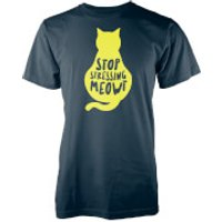 Stop Stressing Meowt Navy T-Shirt - XL - Navy