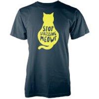 Stop Stressing Meowt Navy T-Shirt - XL - Navy