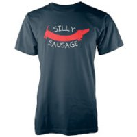 Silly Sausage Navy T-Shirt - XXL - Navy - Silly Gifts