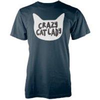 Crazy Cat Lady Navy T-Shirt - XL - Navy