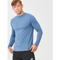 Luxe Classic Long Sleeve Crew - XS - Blue