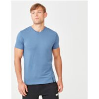 Luxe Classic V-Neck T-Shirt - S - Blue