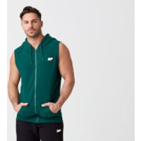 Tru-Fit Sleeveless Hoodie - S - Dark Green