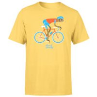 Image of Slow And Steady Sloth Men's Yellow T-Shirt - XXL - Yellow