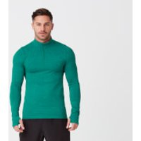 Sculpt Seamless ¼ Zip-Top - M - Dark Green