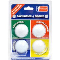On Par Joke Golf Balls (4 Pack) - Joke Gifts