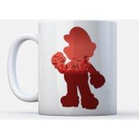 Taza Nintendo Super Mario  Silueta Mario