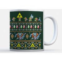 Taza Navidad Nintendo Super Mario  Link to the Christmas Past