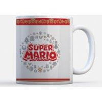 Taza Navidad Nintendo Super Mario  Corona Logo