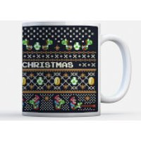 Taza Navidad Nintendo Super Mario Yoshi  Have A Merry Christmas