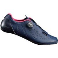 Shimano RP9 Road Shoes Carbon Sole - Black - EU 43 - Blue
