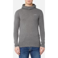 Superdry Mens Orange Label Knitted Hoody - Ashes - XXL - Grey