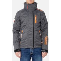 Superdry Mens Snow Wind Jacket - Grey Marl - S - Grey