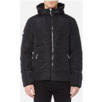 Superdry Men's Sports Puffer Jacket - Black/Black - L - Black