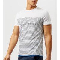 BOSS Green Mens Teep 1 Stripe T-Shirt - White - S - White