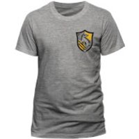 Harry Potter Men's House Hufflepuff T-Shirt - Grey - L - Grey - Harry Potter Gifts