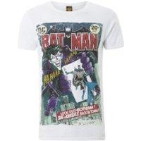 DC Comics Mens Batman Joker Comic T-Shirt - White - S - White