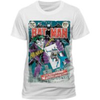 DC Comics Mens Batman Joker Comic T-Shirt - White - S - White