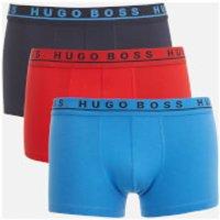 BOSS Hugo Boss Men's 3 Pack Trunk Boxers - Blue/Black/Red - S - Multi