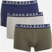 BOSS Hugo Boss Mens 3 Pack Trunk Boxers - Navy/Grey/Khaki - XL - Multi