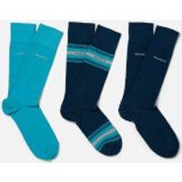 BOSS Hugo Boss Mens 3 Pack Socks Box - Blue