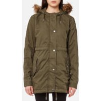 Superdry Womens Rookie Quilt Lined Parka - Army Olive - XS - Green