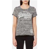Superdry Womens Vintage Logo T-Shirt - Black Twist - L - Black