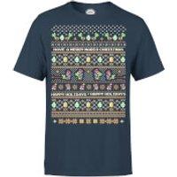 Nintendo Yoshi Have A Merry Mario Christmas Navy T-Shirt - M - Navy