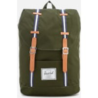 Herschel Supply Co. Mens Retreat Backpack - Forest Green/Veggie Tan Leather