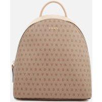 DKNY Womens Bryant Medium Backpack - Chino Logo