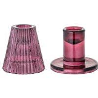 Bloomingville Jewel Candlesticks (Set of 2) - Purple - Jewel Gifts