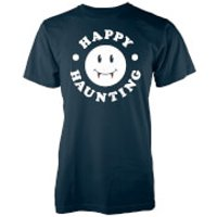 Happy Haunting Mens Navy T-Shirt - M - Navy