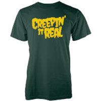 Creepin It Real Mens Forest Green T-Shirt - M - Forest Green