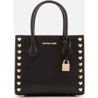 MICHAEL MICHAEL KORS Womens Mercer Medium Messenger Bag - Black